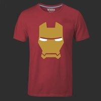 Wholesale Tee Shirt Iron Size - Iron Man Men T Shirts The Avengers Printing Green Arrow Hulk Stark American Movie Cartoon Hero Swag Male Tee Shirt plus size