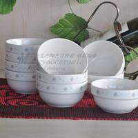 Wholesale Commercial Gift Boxes - Serves creative Korean ceramic bowl handmade gift boxes 10 sets of commercial catering kitchen utensils 3713 #