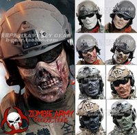 Gros-chefs M05 Zombie The Walking Mask Morte Plastic Half Skull Visage