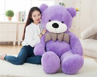 Wholesale Boyds Halloween - Plush Doll Toys Boyds Teddy Bears Christmas Toys 120cm 1.2m 1.2meter Giant Teddy Bear Lovers Big Embrace Bear Stuffed Animals Birthday Gift