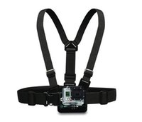Wholesale Camera Chest - 100PCS Shoulder Chest Belt Strap Mount For Accessories SJ4000 Accessories Hero HD Hero4 2 3 3+ Outdoor Action Camera Free send