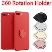 mobiler fingergriff großhandel-Universal Magnetic Metall Fingerring Ständer Magnet Halter 360 Drehhalterung Handy Drip Grip Universal für Smartphone