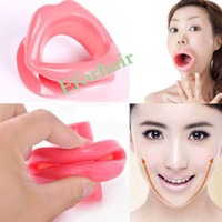 Wholesale Slim Mouthpiece - Silicone Facial Lift Slimmer Face Slimmer Anti-Wrinkle Anti-Aging Muscle Oral Exercise Lip Trainer Oral Exerciser Mouthpiece Care Face-lift