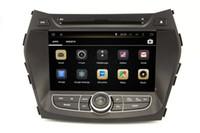 Wholesale Hyundai Android Head Unit - Android 4.4 Car DVD Player for Hyundai IX45 Santa Fe with GPS Navigation Radio Bluetooth USB SD AUX MP3 WiFi Head Unit