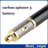 Meilleure Vente Fiber De Carbone Vision Spinner 3 e cigarette Vision Spinner III batterie 1600 mAh Variable Tension Vision Spinner 3 Batterie