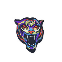 Wholesale Tiger Iron Patches - 1PCS Multicolor Tiger Embroidery Patches for Clothing Bags DIY Iron on Transfer Applique Patch for Garment Jackets Sew on Embroidery Badge