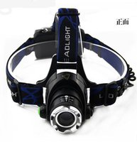 Wholesale Headlamp Focus Zoom T6 - 2000Lm Waterproof CREE XML T6 Zoom LED Headlight Headlamp Head Lamp Light Zoomable Adjust Focus For Bicycle Camping Hiking