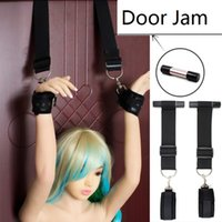 Wholesale Stand Sex - Adult Sex Fantasy Heavy Duty Door Jam Bondage Wrist Cuffs Set Standing Restraint System Over the Door Toy
