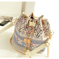 Wholesale Drawstring Handbag Zipper - Shoulder & Crossbody Bags Bohemia Canvas Drawstring Bucket Bag Shoulder Handbags Women Messenger Bags Bolsa Feminina Bolsos