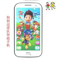 Wholesale Music Baby Phone - cartoon English Music Toy Phone educational toys Learning Machine, Smart touch scteen baby toy phone with light