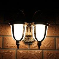 Wholesale Double Slider Outdoor - Wholesale-Outdoor lamp double slider wall lamp 2 head garden light European Style street light wall lamp 100~240V use