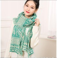 Wholesale Gloves Hit - Wholesale-2015 fall and winter of the new high quality imitation cashmere scarf shawl wool hitting scene flow must be tassel scarf women