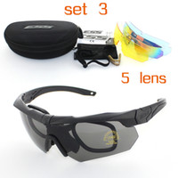 Wholesale Hoot Girls - Top quality ESS Crossbow Outdoor Sports Army Bullet-proof goggles tactical sunglasses eyewear 3 5 lens Gafas coclismo hooting glasses