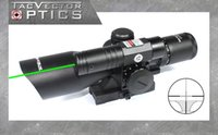 Wholesale Tac Vector Scopes - TAC Vector Optics Sideswipe 2.5-10x40 E Compact Green Laser Gun Rifle Scope with Quick Release 20mm Weaver Mount Base