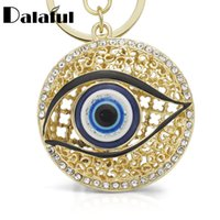 Beijia Eyes Hollow Out Round Metal Chaveiro Anéis Cristal Purse Bag Buckle Pendant For Keyclaves K165
