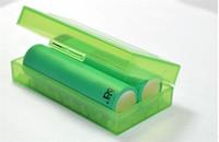 lithium-batterie-box großhandel-Tragbare kunststoff batterie fall box sicherheit halter lagerbehälter 5 farben pack batterien für 2 * 18650 oder 4 * 18350 lithium-ionen-akku e cig