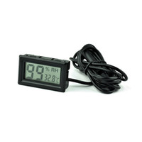 Wholesale Thermometer Hygrometer Car - Small thermo-hygrometer Miniature electronic temperature and humidity meter Reptiles digital thermo-hygrometer wireless indoor car refrigera