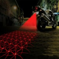 Wholesale Tail Light Motor - Motorcycle Anti-collision LED Laser Fog Lights Taillight Anti-fog Parking Stop Brake Lamps Warning Tail Light Motor Styling