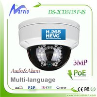 DS-2CD3132F-viene aggiornato DS-2CD3132-I Hikvision 3MP Dome IP Camera Mini telecamera IP con audio, slot per scheda TF max 64GB PCMobile View