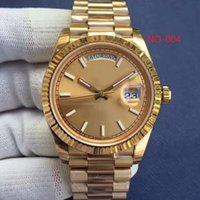 Wholesale 41 mm - 2017 Luxury watch 18 ct gold DAYDATE 41 self-winding Automatic movement Silver dial Fluted bezel Concealed folding Crown clasp Mens watc
