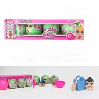 Wholesale Fashion Gift Boxes Cake - 4pcs lot Random Color LQL LOL SURPRISE DOLL Series 2 Doll Baby Cake Toy Surprise Eggs Removed with Box Kids Gifts