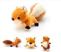 schöne große spielsachen großhandel-Tiere 8 CM Mini Kawaii Eichhörnchen Plüsch Gefüllte Puppe Anhänger Big Tail Cartoon Schönes Geschenk Spielzeug für Handtasche Schlüsselring
