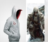 Gros-Nouvelles Assassins Creed Conner Kenway Hoodie Coat Jacket Mens cosplay <b>assasins Creed</b> Vêtements costume costume manteau sport sweatshirt