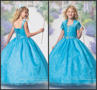 Wholesale Kids Dresses Cheap Prices - Communion Dress For Kids Sweet Crystals Sparked Graduation Cheap Price With Jacket Sweet Sequin Beading Christening Gilrs Dresses Cute