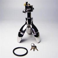 Wholesale Chastity Device Ass Plug - Metal Bondage Anal Plug Butt Plug BDSM Male Chastity Device Stretching Anal Toys Adult Sex Toys Stainless Steel Gay Anus Expansion Bolt Ass