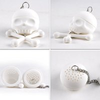 Wholesale Vintage Tea Strainers - Creative Bones Skull Tea Strainer Balls Silicone Tea Infuser Filter Vintage Tea Accessories
