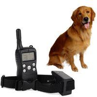 Wholesale Dog Training Usa - USA 300 Yard Rechargeable 4LV Level Shock Vibra Remote Pet Dog Training Collar order<$18no track