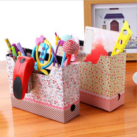 Wholesale Eco Stationery - DIY Hot Makeup Cosmetic Stationery Paper Board Storage Box Desk Decor Organizer MD349