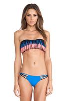 Wholesale Fringe Bandeau - Newest Fringe Bandeau Swimsuit Bikini Vintage Sexy Women Bandage Bikini Set SW221