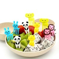 Beser Bento Decoration Box-10pcs Animali Food Picks and Forks, scatola da pranzo giapponese design carino, accessori per feste