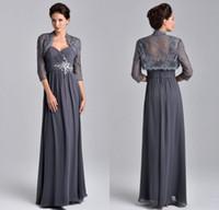 Mother Bride Long Dress Gray Jacket Price Comparison | Buy ...