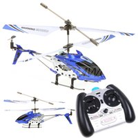 Wholesale Ir Remote Control Helicopter - 2.4G IR RC Helicopter Syma S107G remote control 3.5CH helicopter Wltoys sales at 3 years&whole sale