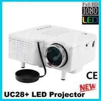 "Wholesale Mini Projetor Led Uc28 - Projector New UC28 UC28+ Portable Pico LED Mini HDMI Video Game Projector Digital Pocket Home Cinema Projetor Projector for 80"" Cinema"