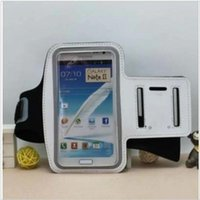 Wholesale Sumsung Galaxy Note2 - Wholesale-Soft elastic Belt Sport Running Waterproof Sweatproof Armband Case Cover For SUMSUNG N7100 Galaxy Note2 noteII free shipping