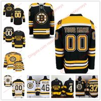 Camisetas De Hockey Personalizados Baratos-Stitched Custom Boston Bruins mens womens youth MARCA VIEJA Black Winter Classic Customized White Black Third Yellow hockey sobre hielo Jerseys S-4XL
