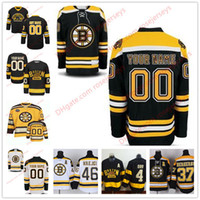 Wholesale Custom Branded - Stitched Custom Boston Bruins mens womens youth OLD BRAND Black Winter Classic Customized White Black Third Yellow ice Hockey Jerseys S-4XL