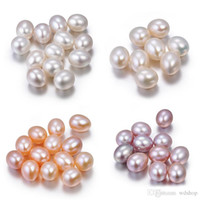 Wholesale Natural Flowers Bracelets - AAA 6-10mm Teardrop Natural Freshwater Oyster Pearl Loose Beads 30pcs Lot Loose Pearl For DIY Jewelry Fit Bracelets Necklace