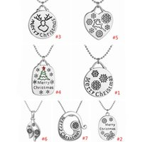Wholesale Europe Style Fashion Pendant Necklace - Hot ! 7 PCS 7 Styles Europe and America Fashion Merry Christmas Necklace Chain length 50cm