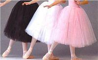 organza petticoat weiß großhandel-Neu Auf Lager Großhandel Erwachsenen Ballett Rock / TUTU Röcke Petticoat Pink Schwarz Weiß Organza Petticoats
