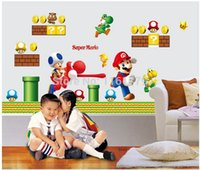 Wholesale Modern Room Decoration Game - wall decoration stickers home decal decor super mario game happy cute AY7062 :-)50*70cm