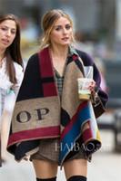 ponchos de tartán al por mayor-Bufanda de invierno de lana de moda bufanda de las mujeres colores mezclados gruesos chales de la marca de cuadros y bufandas para las mujeres