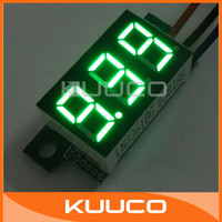 Wholesale-5 PCS / LOT digitale voltmetro tre fili Auto Moto Voltage Monitor 0.36