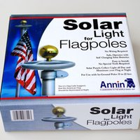 Wholesale Solar Flagpole - Solar light for flagpole+100% solar powered+20 Bright LEDs+Free shipping Outdoor lamp Utility Garden light high quality D324L