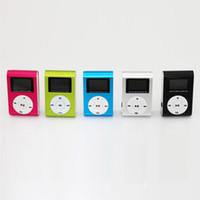 clip de metal mp3 venda por atacado-MP3 Player Clipe com Tela OLED Suporte de Corpo De Metal Max 8 GB Cartão TF Colorido 50 pçs / lote