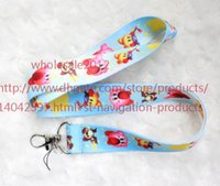 Wholesale Phone Animations - Free shipping New Lot 10pcs lot Cartoon Animation Kirby Mobile Phone lanyard Key chain straps charms