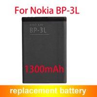 Wholesale Bp 3l Battery - Replacement Battery BP-3L BP3L For Nokia Lumia 505 510 610 710 Asha 303 603 1300mAh